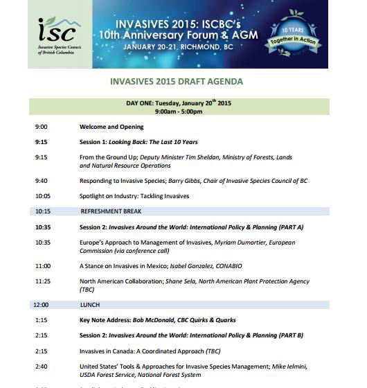 ISCBC agenda