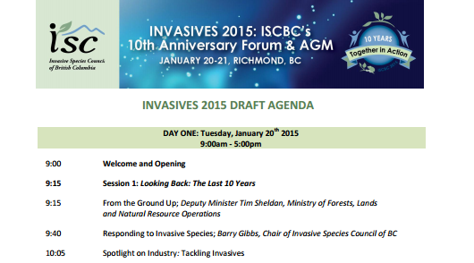 Invasive Species Council of BC Annual Forum